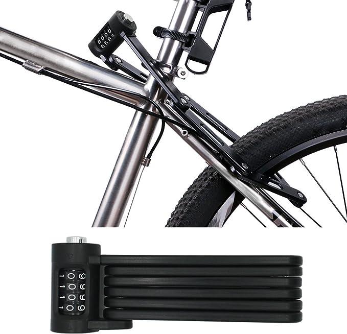 FLYDEER Candado Universal Plegable para Bicicleta (Acero ...