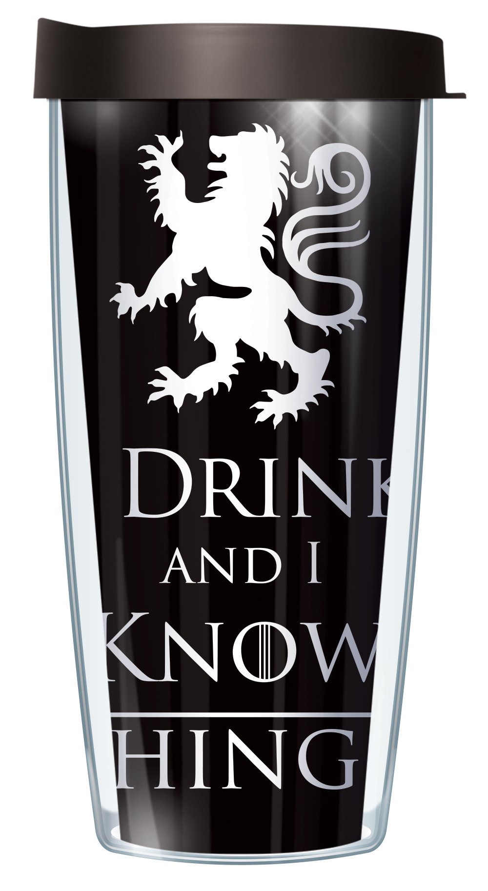 I Drink and I Know Things Funny 16oz Mug Tumbler Cup with Black Lid