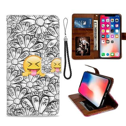 Amazon.com: Funda para iPhone Xr con tarjetero, diseño de ...