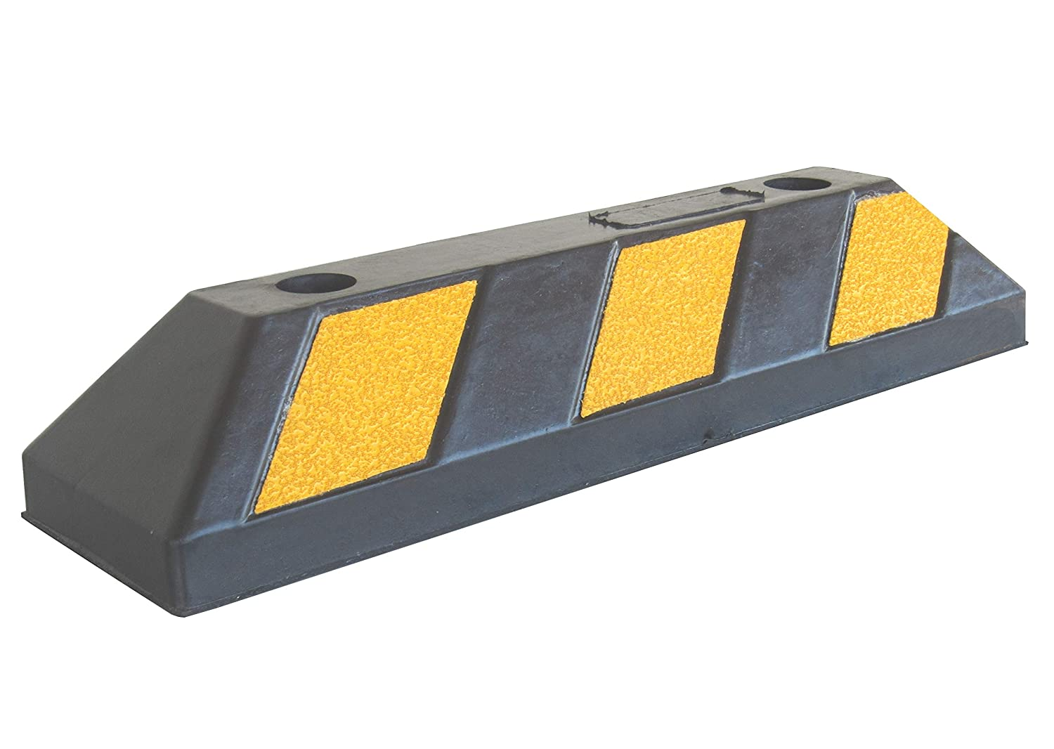 RWS-4 Rubber Parking Wheel Stop for Commercial and Domestic Car Parks and Private Garages, Black and Yellow colour, 55x15x10 cm (pack of 1) ESR