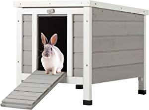 CO-Z Topnotch Weatherproof Indoor Outdoor Wooden Bunny Rabbit Hutch Cat Shelter Guinea Pig House