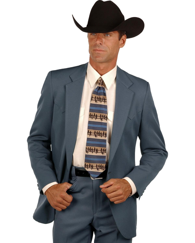 Circle S Men's Lubbock Suit Coat Big and Tall Gunmetal 50 R