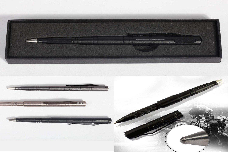 USAHOME Survival Pen, Luxury Tactical Pen for Self Defense, business ink pen, Defender Tactical Pen with Glassbreaker, Aircraft Grade Aluminum Made (Black)