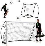 QUICKPLAY Kickster Combo - 2 in 1 Portable Football Goal & Rebounder 8x5'