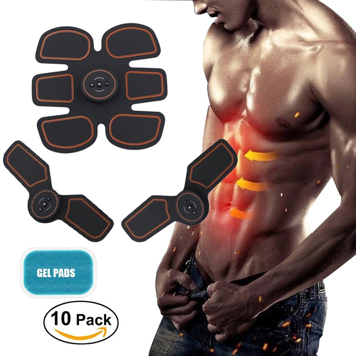 ABS刺激装置、腹部用充電式腹部筋肉トレーニングファットバーナー B07HDBHLTW ブラック、男性用/女性用ポータブルマッスルトレーナー ブラック B07HDBHLTW, チアーズR店:e1352abf --- mail.tastykhabar.com