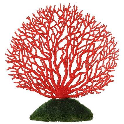 Asixx Artificial Ornamento de Coral, Decoración de La Planta de Acuario,para Acuario,