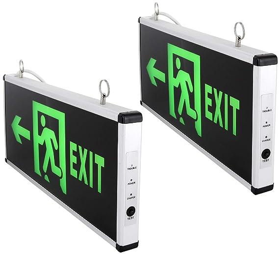 Escape de ruta luz de emergencia LED con batería de ...