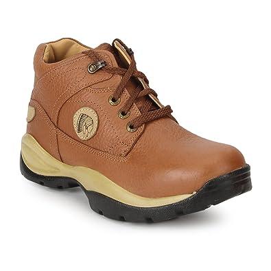 Redchief Men's Leather Trekking and Hiking Footwear Shoes Men's Trekking and Hiking Footwear at amazon
