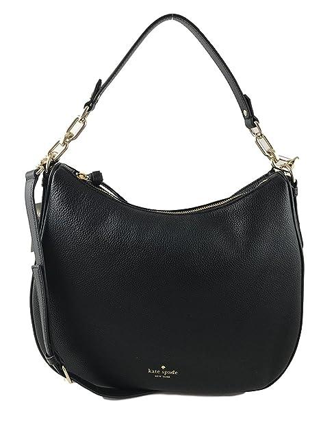 714c2178417f3c Amazon.com  Kate Spade New York Mulberry Street Vivian Hobo Purse (Black)   Shoes