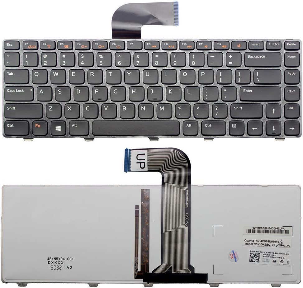 Original New US Laptop Replacement Keyboard Dell Inspiron 15R 5520 SE 7520 Frame&Backlit