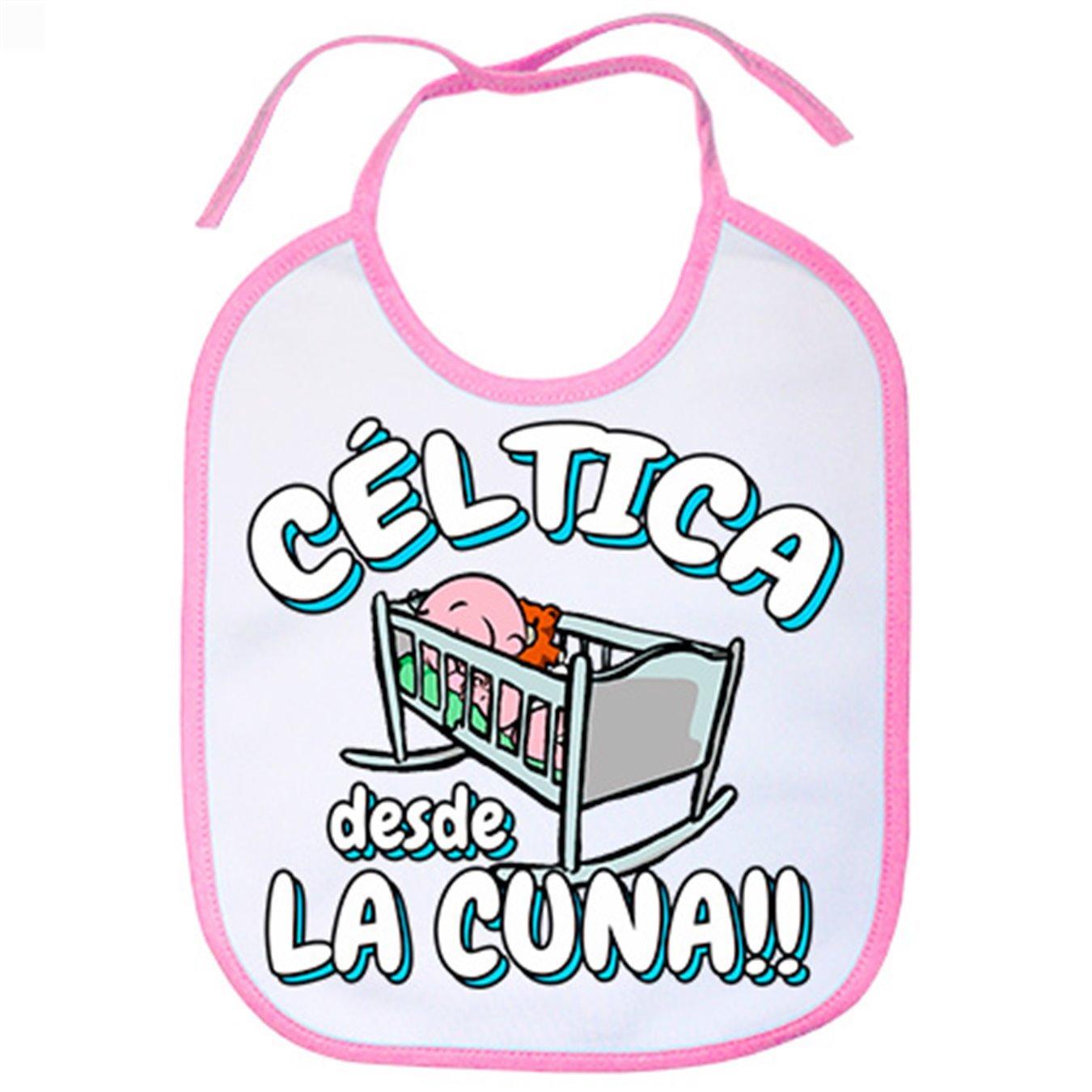 Babero Céltica desde la cuna Celta Vigo fútbol - Celeste: Amazon.es: Bebé