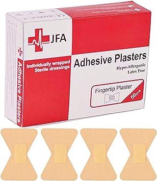JFA Medical - Tiritas para dedos (40 x 60 mm, 50 tiritas por paquete): Amazon.es: Bricolaje y herramientas