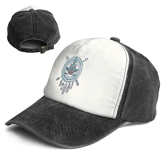 Amazon.com  Fashion Vintage Hat Bohemian Owl Adjustable Dad Hat Baseball  Cowboy Cap  Clothing 83bc310b547