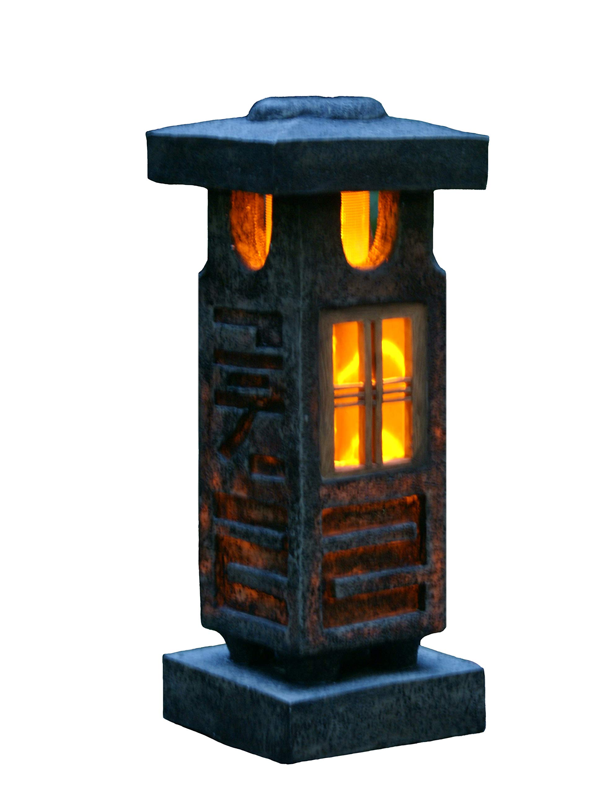 TIAAN 20'' height Solar lantern Solar garden lamp Solar pagoda light