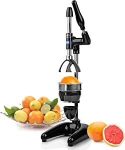 Tribest Pro MJP-100 Professional Manual Juice Cold Press Juicer for Citrus, One-Size, Black