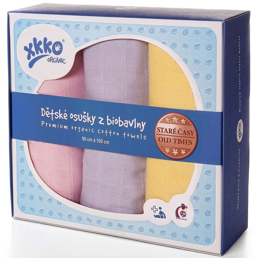 100/% Bio-Baumwolle - XKKO Mullwindeln - 70x70cm Alte Zeiten