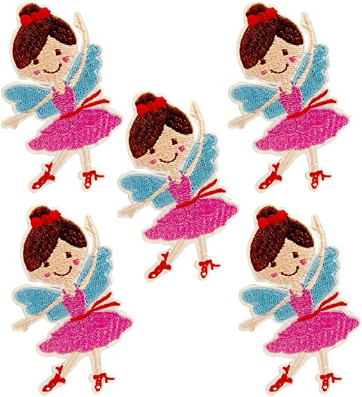 huixun bailarina niña flores parche para la ropa hierro bordado en ...