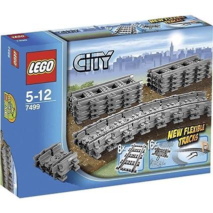 LEGO City , Rails flexibles , 7499 , Jeu de Construction