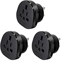 Hasht Daily SAA Certified UK/US/JP/CA to AU/NZ adapter plug, Travel Adapter UK/US Plug Convert to 3-Pin Australian/New…