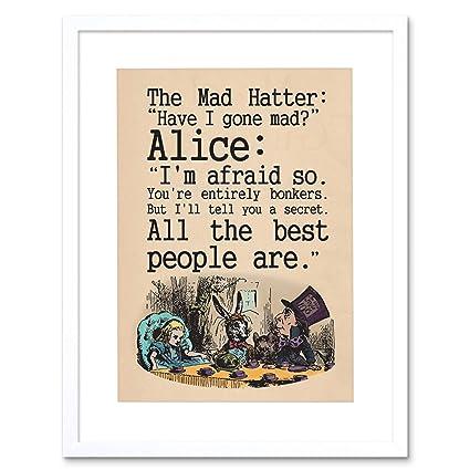 Amazon.com: The Art Stop Quote Carroll Book Alice Wonderland MAD