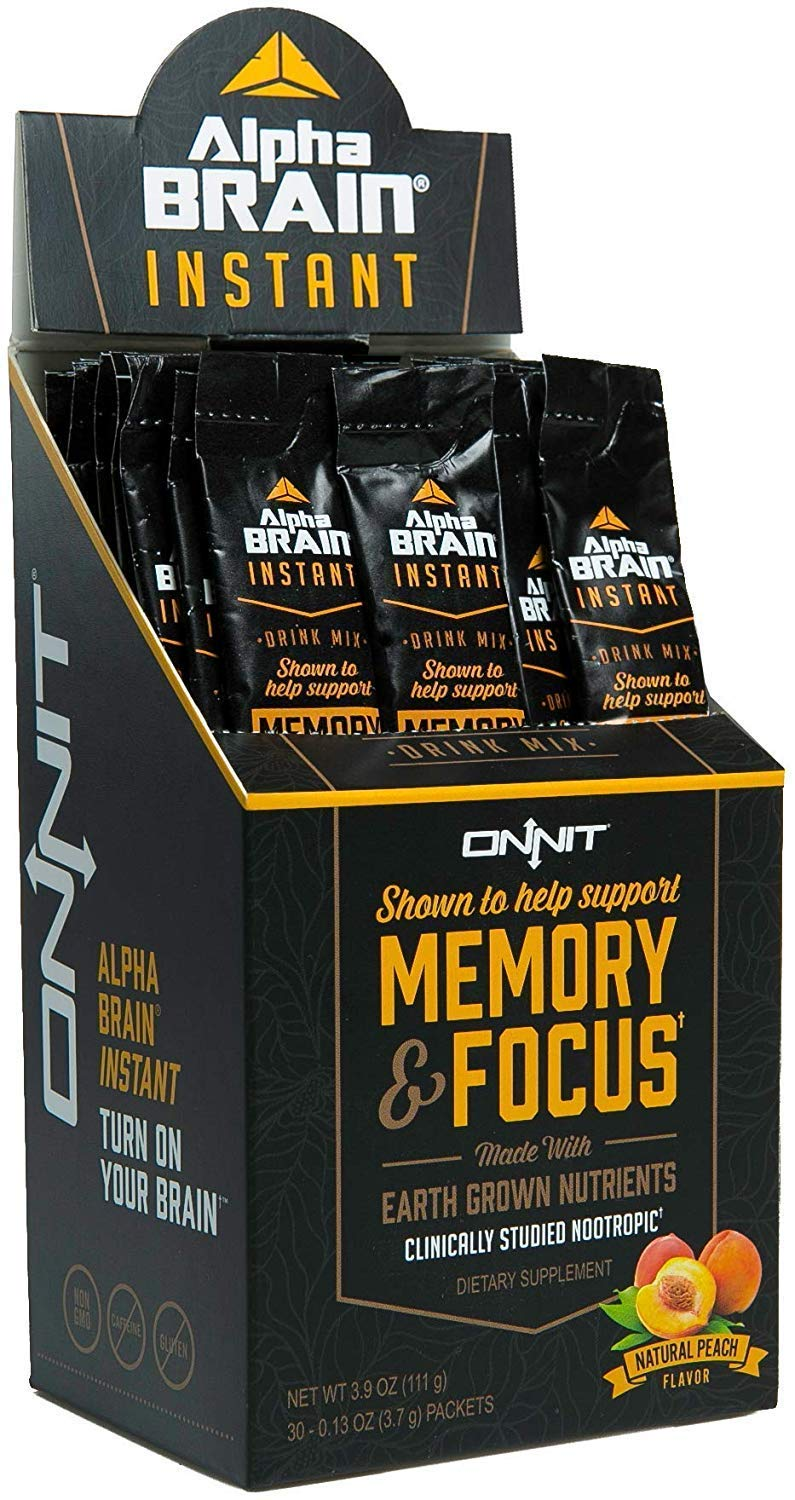 Galleon Onnit Alpha Brain Instant Nootropic Drink Mix Clinically