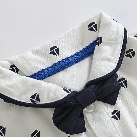Conjuntos Qinmm Bebes Varones Bowtie Body Camisa Mono Petos Pantalones Cortos Bebe Reskill Uom Gr