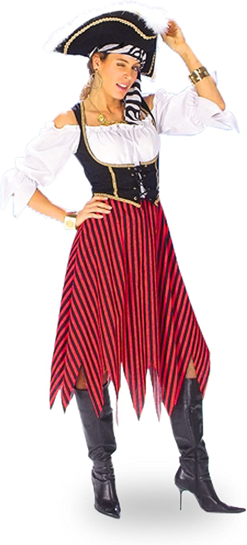 Disfraz de bucanera - traje de pirata para mujer - 44/46: Amazon ...