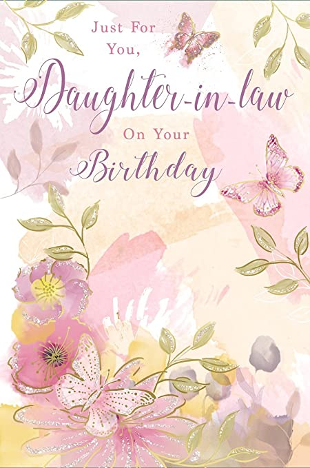 Greetings Daughter In Law Birthday Card