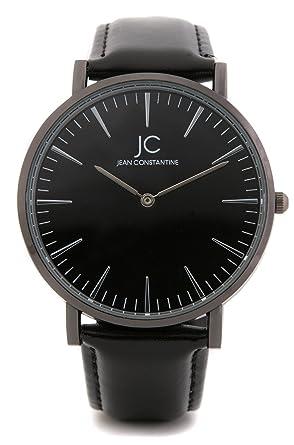 482f72e9ce4076 Jean Constantine élégant Homme et Femme Montre bracelet, Noir Argent,  unisexe, Bracelet en