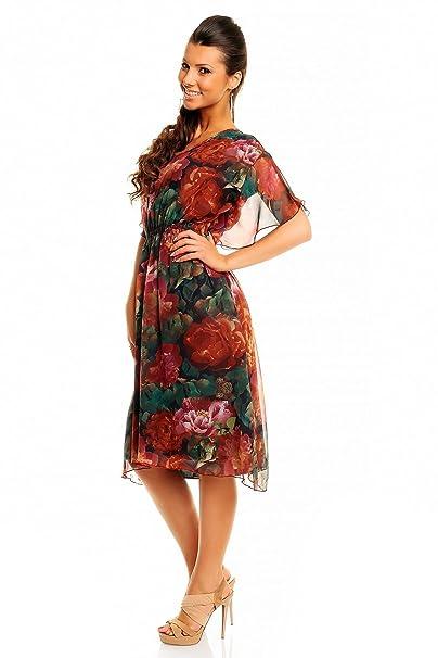 De verano de chifón de diseño de rosas mujer Midi vestidos de - 20 10 -