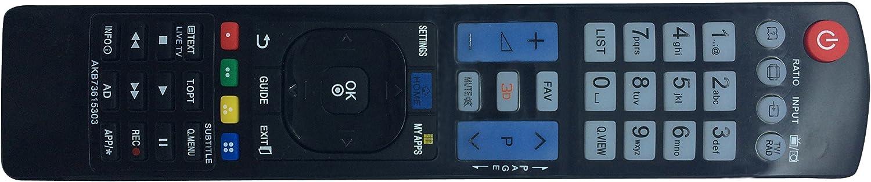 Vinabty Nuovo Sostituito adatto AKB73615303 remoto per LG AKB73615303 AKB73615362 AKB73615302 AKB73615361 AKB73615362 37LN540B 42PM470T 50PM470T 50PM670T 50PM680T 42LA6230 32LM620T 42LM620S 42LM620T: Amazon.es: Electrónica