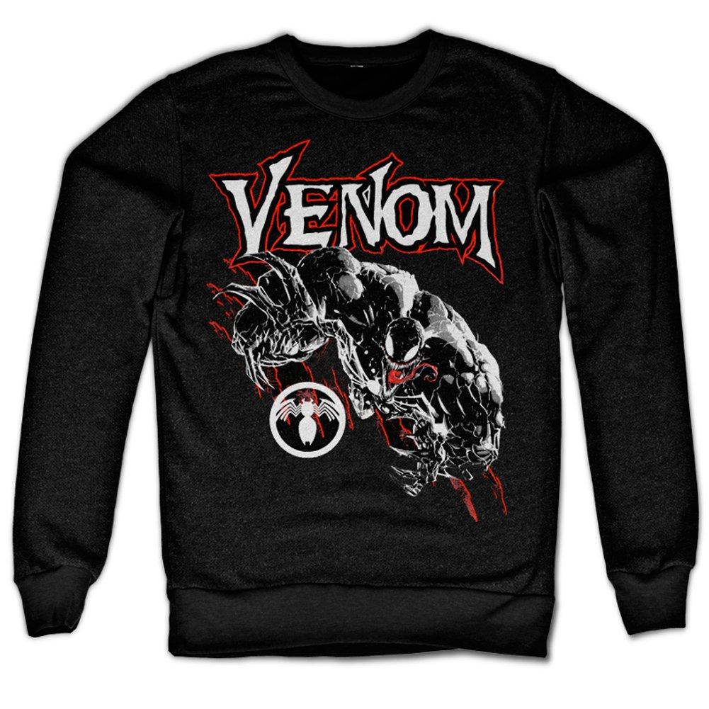 Officially Licensed Merchandise Venom Sweatshirt (Black), X-Large DSN-3-VEN001-H51-8-BK-XL