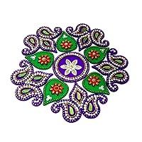 KRIWIN Floor/Wall/Table Rangoli Decorative Showpiece (Acrylic)