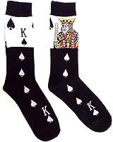 Novelty Fine Fit Crew Socks - Mix Prints