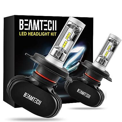 BEAMTECH H4 LED Headlight Bulb, 50W 6500K 8000Lumens
