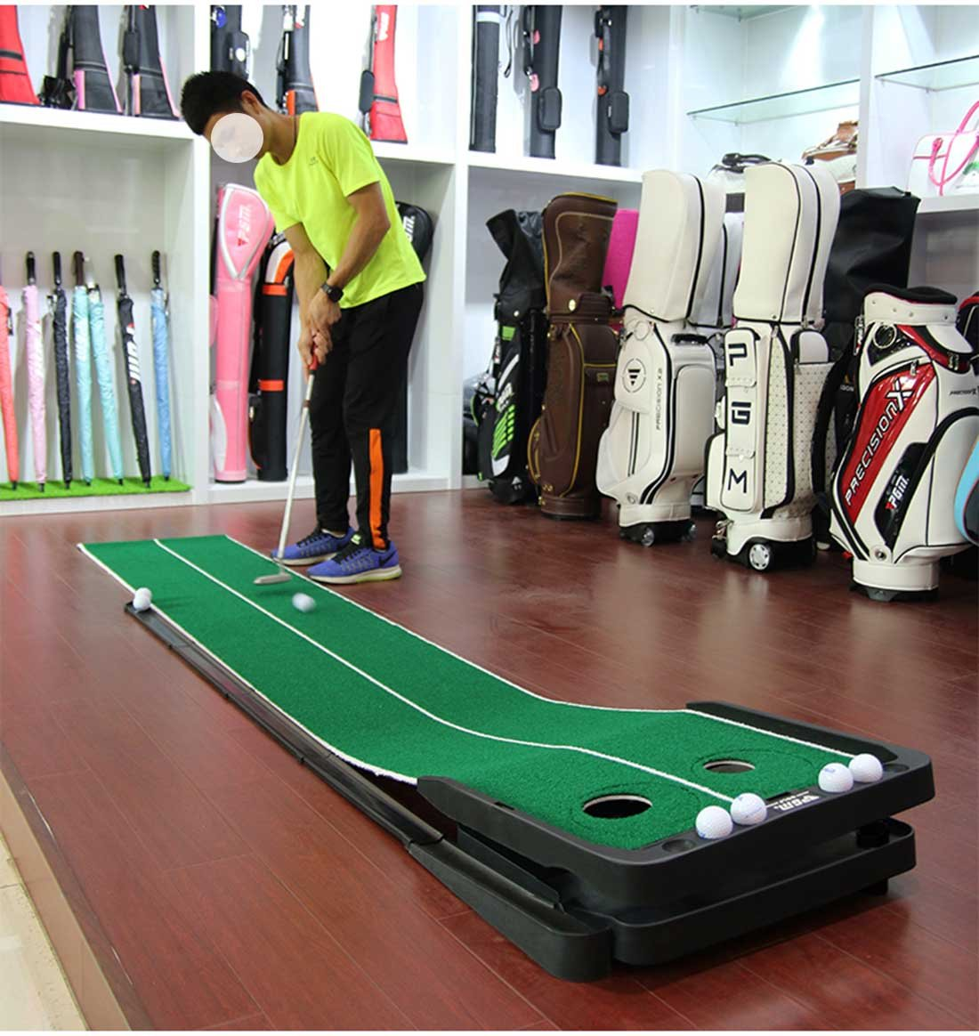 Novelty Golf Putting Trainer Indoor Golf Putting Green System----Auto Return,Extra Wide than Others,20inch Width by PGM (Image #6)