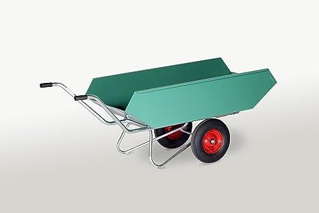 Negro transporte dispositivos mano transporte dispositivos, Kipp Tranvía con chapa de acero bañera, lacado zweiradreiniger Tranvía, ruedas de aire goma 400 ...