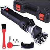 ReaseJoy 380W Electric Sheep Wool Shears Goat Grooming Clippers Hair Fur Shearing Clipping with Carrying Case Black