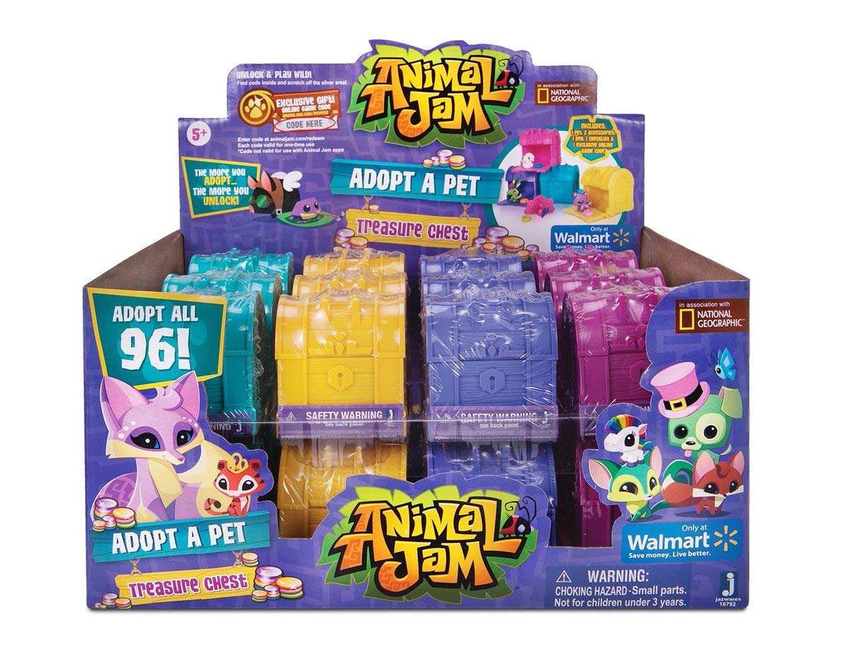 Animal Jam Adopt a Pet Treasure Chest Sealed Mystery Box of 24 Chests Game Code by Animal Jam (Image #2)