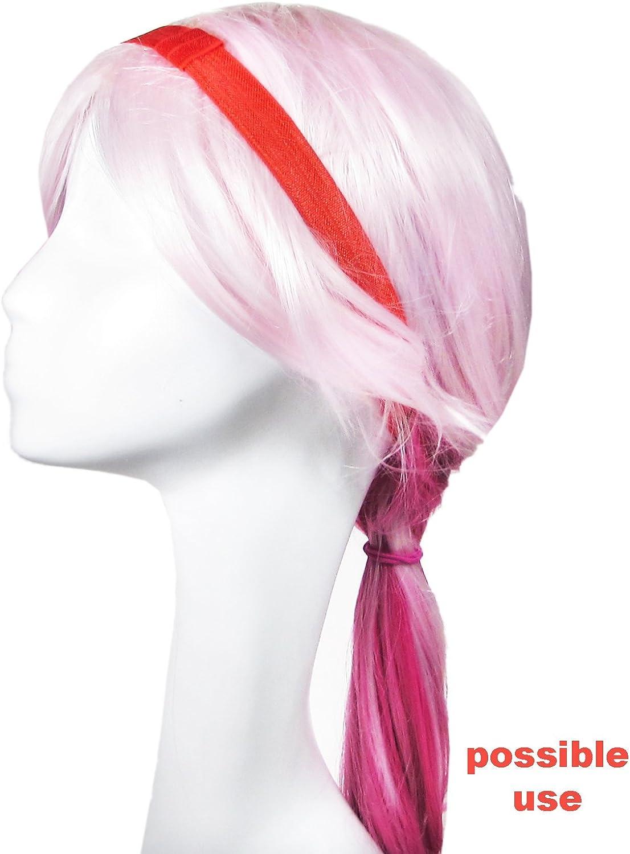 HipGirl Hair Ties Hair Elastics Hair Tie Bulk Fold Over Elastic Ribbon FOE for Baby Girl Teen Women 1 Yard Each 12 Colors Assorted Ribbon Hair Ties Ponytail Holder 5//8 Inch Wide