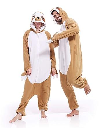 c7df625b4f Adult Sloth Onesies Pajamas Cosplay Animal Homewear Sleepwear Jumpsuit  Costume for Adult
