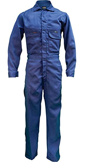 9947cfd0341 Amazon.com  Key Flame-Resistant Contractor Coverall - Navy