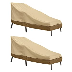 Classic Accessories Veranda Patio Chaise Lounge Cover, Medium (2-Pack)