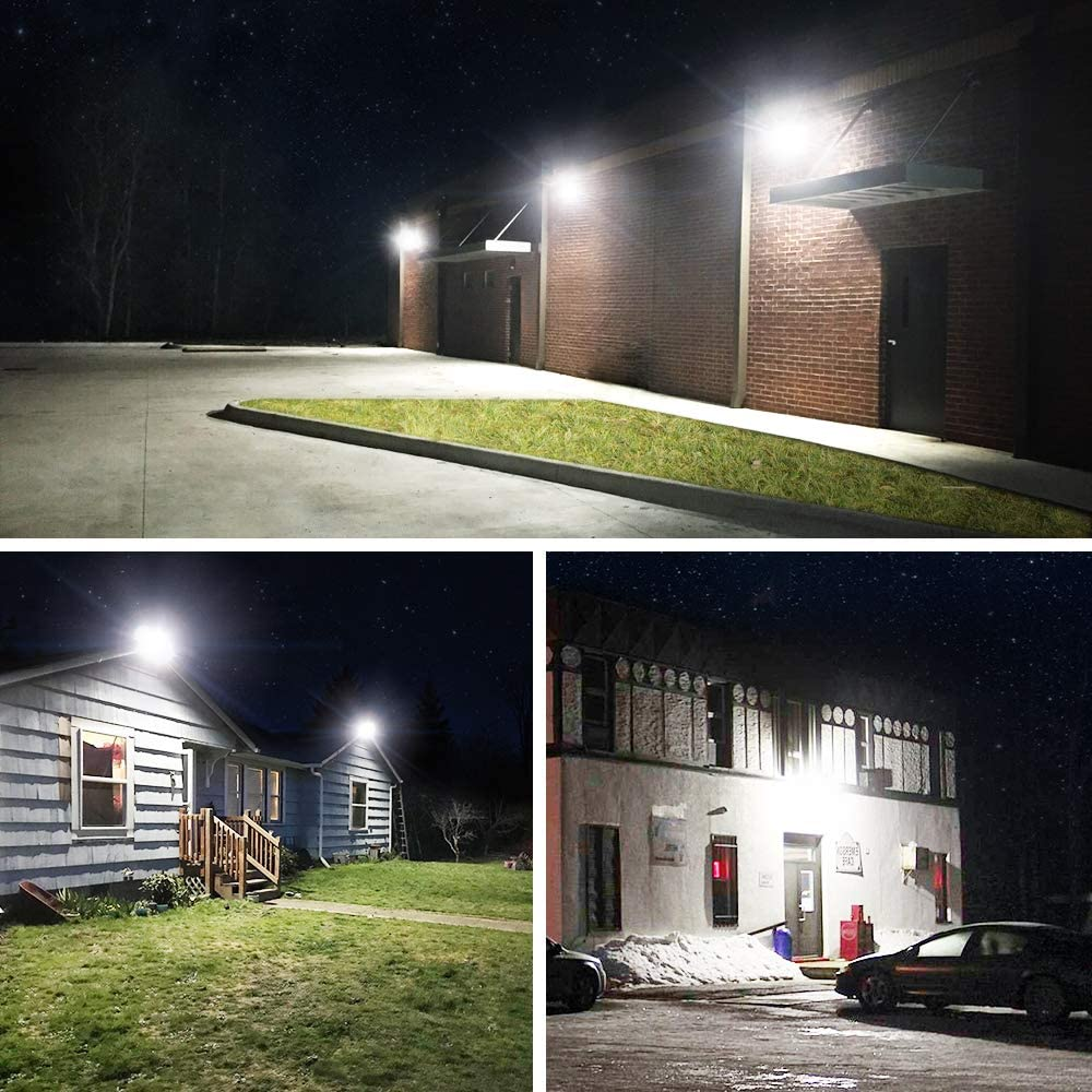 Energy Class A+ Garages Party 5500lm LED Flood Lights Outdoor Rooftop IP66 Waterproof 5000K Daylight Security Lights for Yard Garden Onforu 2 Pack 50W LED FloodLight