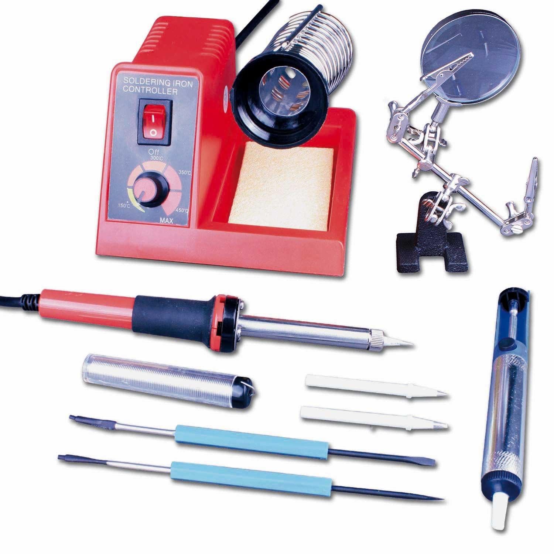 Soldador de estaño eléctrico profesional 58W-220V Incluye Kit con Piezas: Amazon.es: Bricolaje y herramientas
