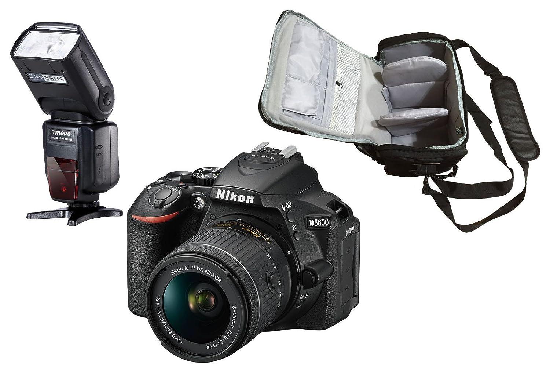 D5600 DSLR Cámara + AF-P DX 18-55mm f/3.5-5.6G VR Lente + KamKorda ...