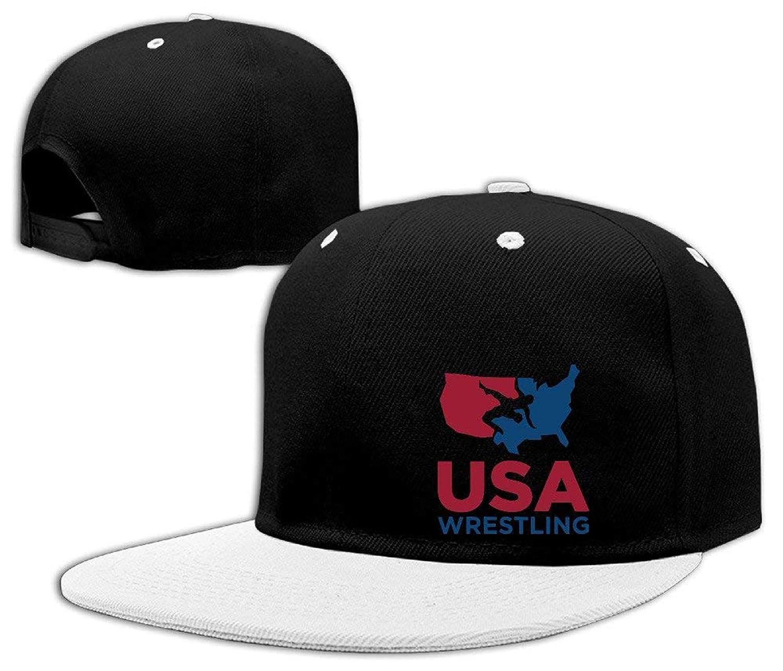 a6be9e20798 B.bone Unisex USA Wrestling Flat Baseball hat at Amazon Women s Clothing  store