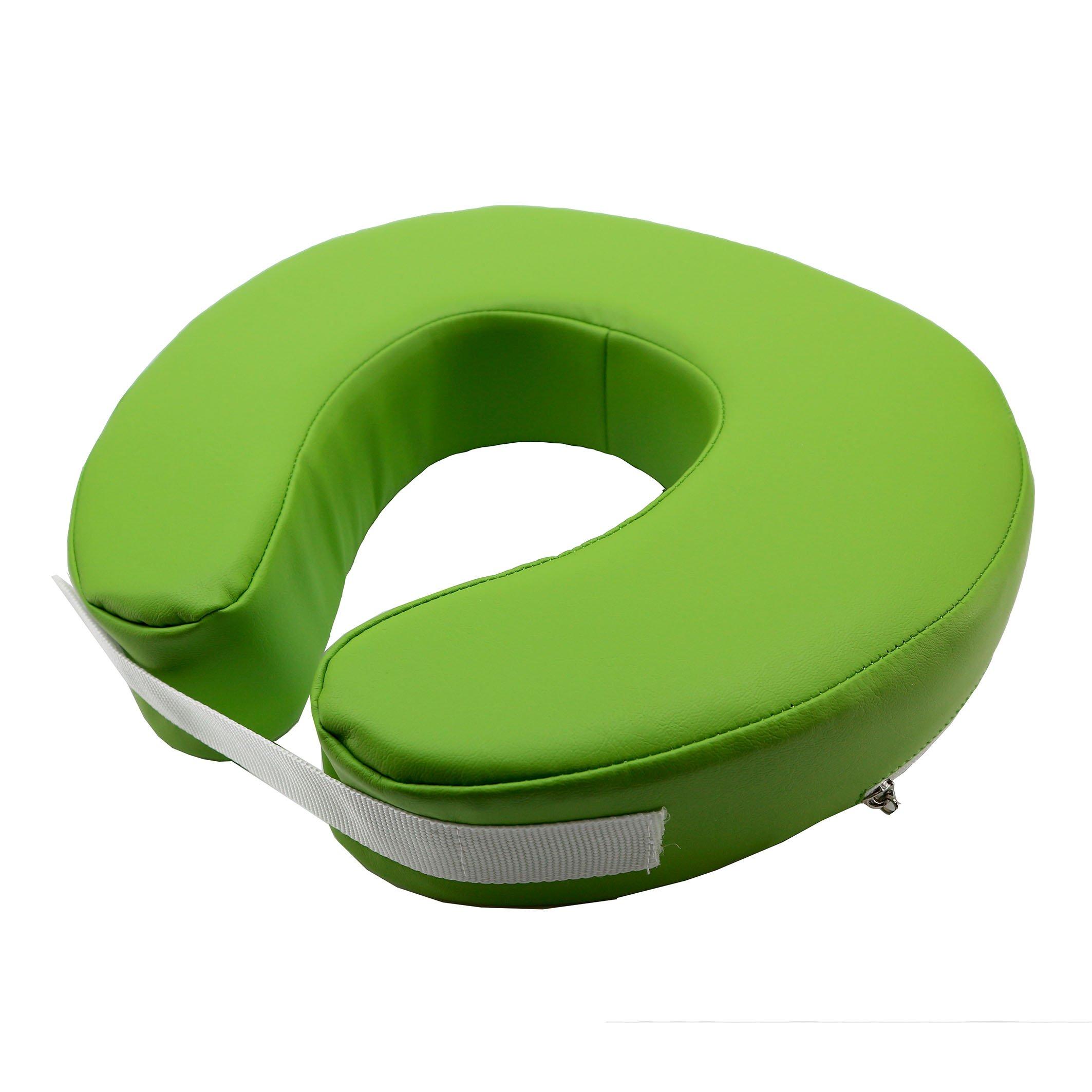 JBS Massage Fitted Crescent Face Pillow Massage Face Cradle Cushion Green