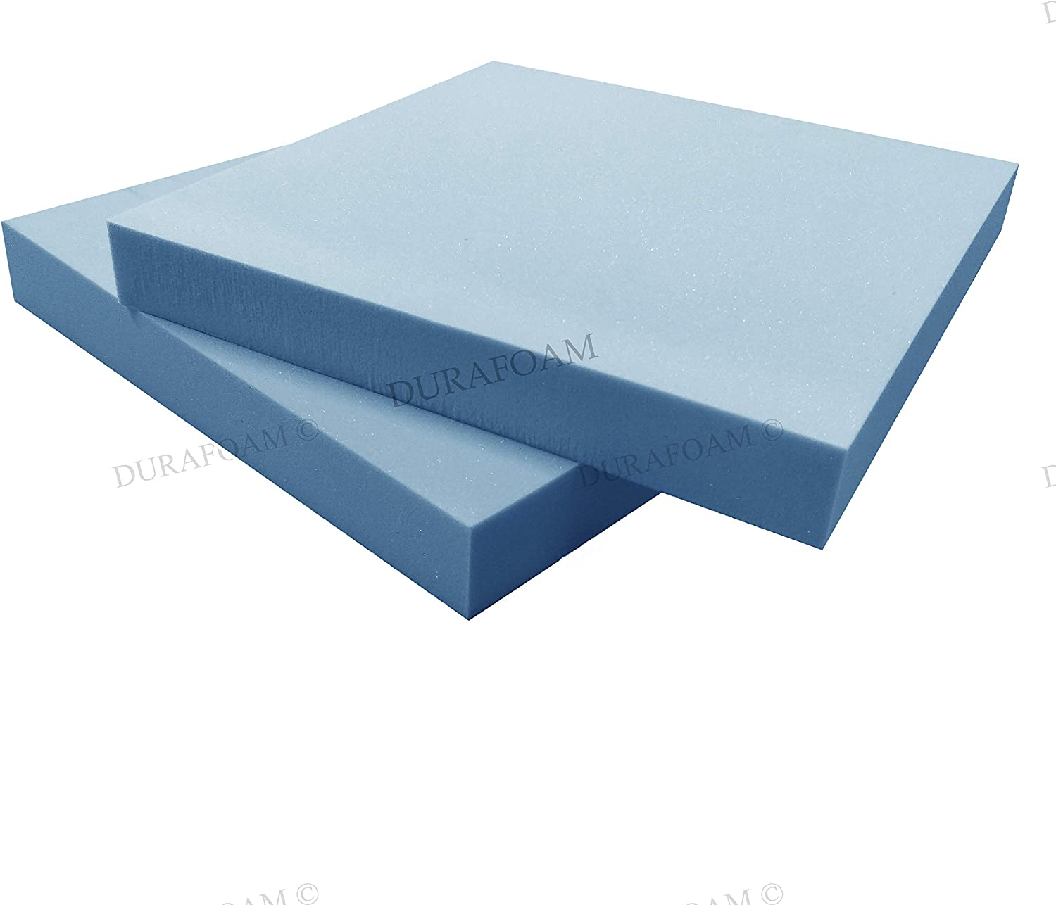 Chair Bluemoon Bedding High Density Upholstery Foam 24 x 24, Upholstery Foam Thickness 1 Seat Cushions Cut to Any size seat pad Seating firm Foam Dinning Stool