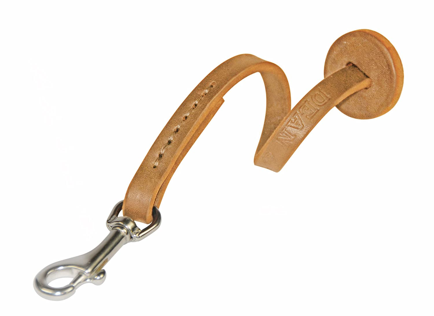 Dean and Tyler Hand Control Dog Leash, Tan 1-Foot with Stainless Steel Hardware